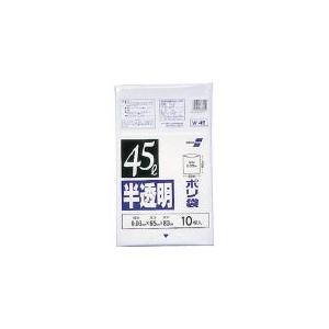 積水 45型ポリ袋 半透明 Wー45 N-1040 清掃用品・ゴミ袋|rcmdin