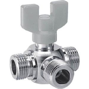 カクダイ 三方ボール切替弁 13 6502 管工機材・水道配管資材|rcmdin