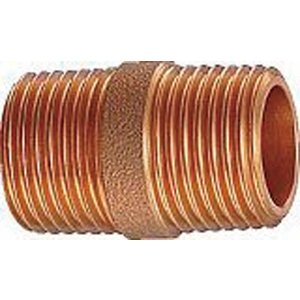 カクダイ 砲金丸ニップル 6499Y-20 管工機材・水道配管資材|rcmdin