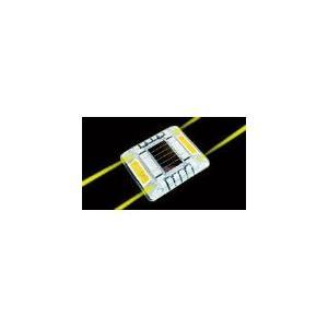キャットアイ ルミナスアイ・マイティ ソーラー式点滅 片面 黄 LE-260A2 安全用品・標識・工事灯|rcmdin
