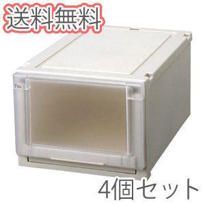 天馬 フィッツユニットケース 3525 【幅35cm】 CAP カプチーノ 4個セット 押入れ収納