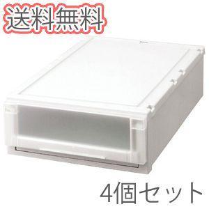 天馬 フィッツユニットケース(L) 4418 【幅44cm】 CAP カプチーノ 4個セット 押入れ収納