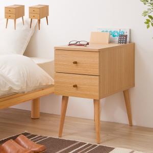 ナイトテーブル N-SIDE ベッド横 ソファ横 ナイトテーブル ミニテーブル サイドテーブル サイドチェスト 引出し付き 半完成品 代引不可 rcmdin