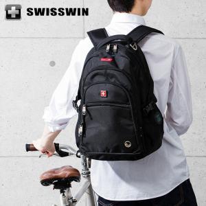 SWISSWIN リュック リュックサック ビジネスリュック メンズ SW9130 スイスウィン ブラック 撥水 PC対応 大容量 通勤 出張 旅行|rcmdse