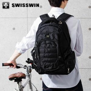 SWISSWIN リュック リュックサック ビジネスリュック メンズ SW9275I-N スイスウィン ブラック 撥水 PC対応|rcmdse