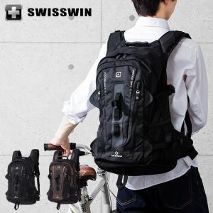 SWISSWIN リュック リュックサック ビジネスリュック メンズ SW9972 スイスウィン ブラック ブラウン 撥水 PC対応|rcmdse