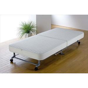 ベッド シングル 折りたたみベッド カバー 洗える コンパクト 収納しやすい 替えカバー式 マットレス 脚付きマットレス 代引不可|rcmdse