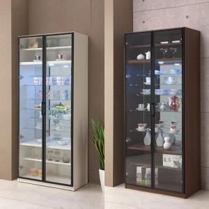 コレクションラック カップボード 幅77.6cm×高さ180cm コレクションケース 飾り棚 ガラス棚 ショーケース 代引不可 rcmdse