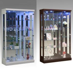 コレクションラック 幅90cm×高さ150cm コレクションケース コレクションボード 飾り棚  ガラス棚  ショーケース   代引不可|rcmdse