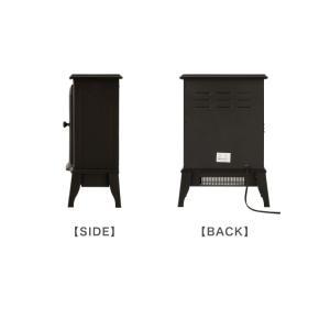 暖炉型ファンヒーター Bolivia ボリビア セラミックファンヒーター ファンヒーター ヒーター 暖房 暖炉 ストーブ ブラック|rcmdse|06