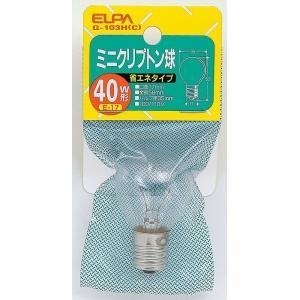 クリプトン球40W G-103H C エルパ ELPA 朝日電器|rcmdse