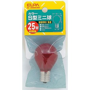 カラーS型ミニ球25 G-20H R エルパ ELPA 朝日電気 rcmdse