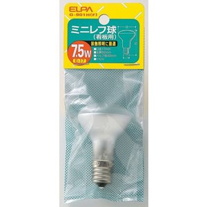 ミニレフ球7.5W G-901H F エルパ ELPA 朝日電気 rcmdse