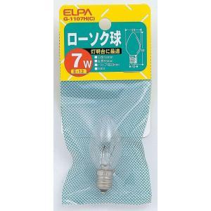 ローソク球 G-1107H C エルパ ELPA 朝日電気|rcmdse
