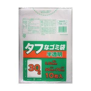 日本技研工業 ゴミ袋 半透明 30L 50cm×70cm 厚み0.02mm タフなゴミ袋 強くて裂けにくい TA-11 10枚入 rcmdse