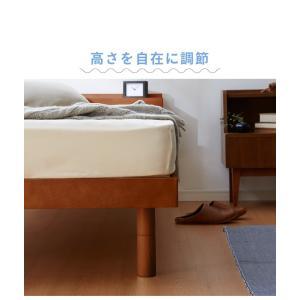 宮付きすのこベッド コンセント付き セミダブル 棚付き 宮付き 北欧 ベット すのこベッド 木製 ワンルーム ベッドフレーム シンプル スノコ すのこ|rcmdse|12