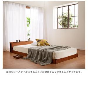 宮付きすのこベッド コンセント付き セミダブル 棚付き 宮付き 北欧 ベット すのこベッド 木製 ワンルーム ベッドフレーム シンプル スノコ すのこ|rcmdse|15