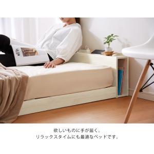 宮付きすのこベッド コンセント付き セミダブル 棚付き 宮付き 北欧 ベット すのこベッド 木製 ワンルーム ベッドフレーム シンプル スノコ すのこ|rcmdse|18
