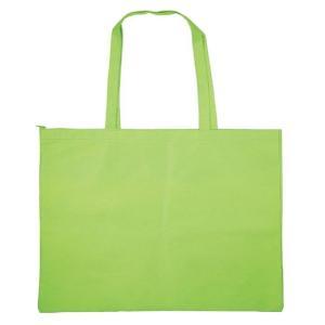作品収納バック大チャック付黄緑 雑貨 バッグ鞄|rcmdse