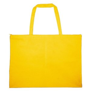 作品収納バック大チャック付黄 雑貨 バッグ鞄|rcmdse