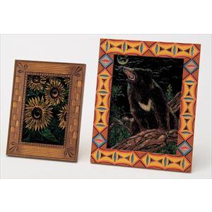 アートガラス木彫額縁セット 小 13546|rcmdse