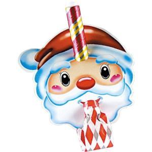 4色アソート サンタお面巻取り笛1P 季節商品 クリスマスサンタもみの木プレゼント|rcmdse