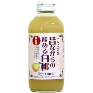アルプス 昔ながらの飲める白桃濃厚ジュース 180ml ASM-M 24本入 ポイント10倍