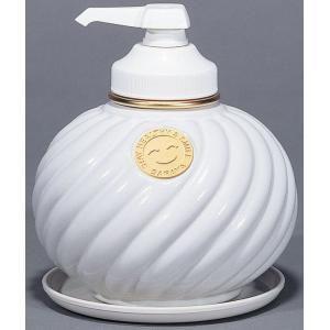 サラヤ ウォシュボン陶器製容器 MD-1 ポンプ付 ホワイト 1L×6本 ポイント10倍