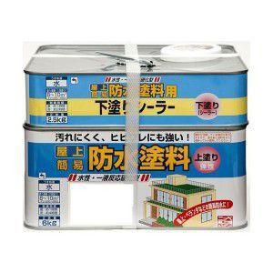 ニッペ ホームペイント 水性屋上防水塗料セット 8.5kg グリーン・246043