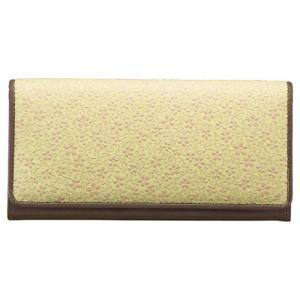 草木染め印伝 つた桜柄長財布 M81101029 代引不可|rcmdse