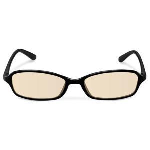 エレコム ブルーライトカット眼鏡/ブラウンレンズ/スクエアフレーム/ブラック G-BUB-S02BK パソコン エレコム G-BUB-S02BK|rcmdse