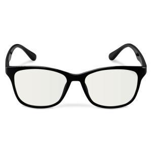 エレコム ブルーライトカット眼鏡/クリアレンズ/ウェリントンフレーム/ブラック G-BUC-W02BK パソコン エレコム G-BUC-W02BK|rcmdse
