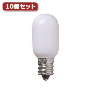 YAZAWA ナツメ球 T20 E12 5W ホワイト10個セット T201205WX10 rcmdse
