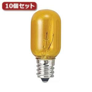 YAZAWA ナツメ球 T20 E12 5W 黄10個セット T201205CYX10 rcmdse