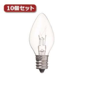 YAZAWA ローソク球 C7 E12 7W クリア10個セット C71207CX10 rcmdse