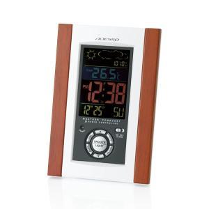 アデッソ クロック 天気予報機能付き電波時計 時計 電波時計...
