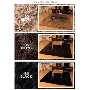 ふわふわラグマット 正方形185×185cm こたつ敷布団のかわりにも 北欧家具 ラグ インテリア モダン|rcmdse|02