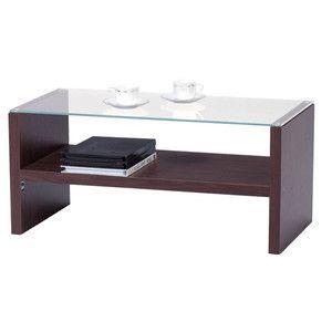 テーブル ガラステーブル センターテーブル ブラウン HAB-621BR|rcmdse