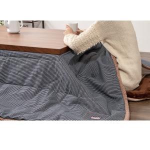 こたつ布団 正方形 ヒッコリーストライプ 190×190 cm 天板サイズ80×80 cm 以下 コタツ炬燵 暖房 ふとん おしゃれ かけ布団 こたつ 単品 北欧|rcmdse|13