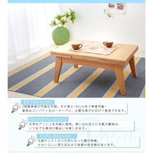 エクステンション リビングテーブル Palette パレット Sサイズ 80-130cm 3段階伸長式  代引不可|rcmdse|03