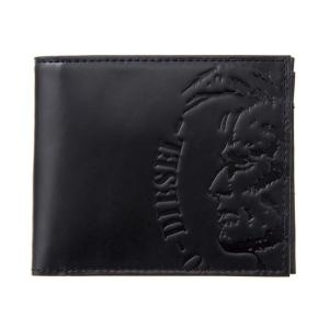 DIESEL ディーゼル X04763 PR160 T8013 Black 二つ折財布|rcmdse