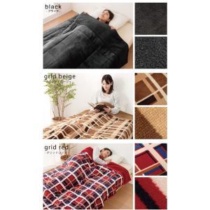 2枚合わせ毛布 中綿入り ダブル マイクロファイバー 毛布 布団|rcmdse|04