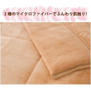 2枚合わせ毛布 中綿入り ダブル マイクロファイバー 毛布 布団|rcmdse|08