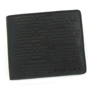 ディーゼル diesel 二つ折り財布 小銭入 work embossed x01021 hiresh small work black bk|rcmdse