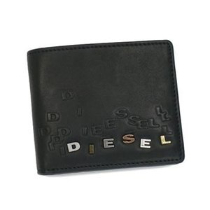 ディーゼル diesel 二つ折り財布 小銭入 jem wallets xr06 hiresh small black bk|rcmdse
