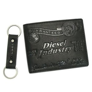 ディーゼル diesel 財布 二つ折りカード 00xl81 gift box male jem wallets black|rcmdse