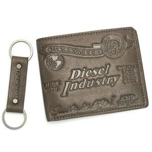 ディーゼル diesel 財布 二つ折りカード jem wallets 00xl81 gift box male chesnut br|rcmdse