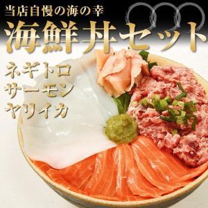海鮮丼セット A マグロたたき サーモン ヤリイカ ちらし寿...