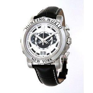 HUNTING WORLD ハンティングワールド イリス 腕時計 スイス製  HW913WHBK 黒皮ベルト|rcmdse