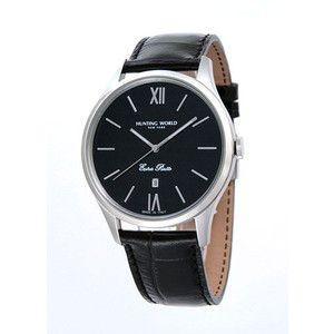 HUNTING WORLD ハンティングワールド コンパーニョ 腕時計 イタリア製  HW014BK 黒皮ベルト|rcmdse
